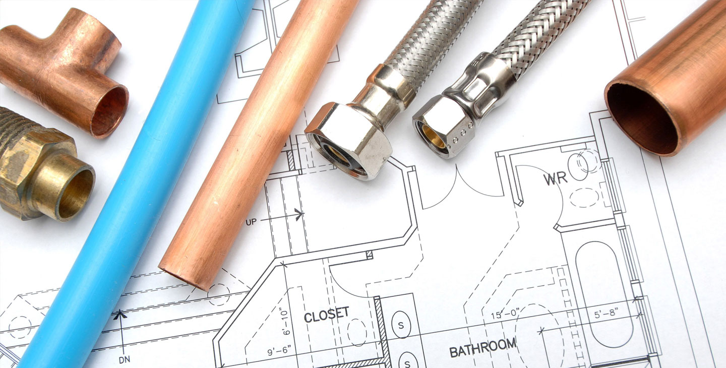 household blueprint plumbing piping image
